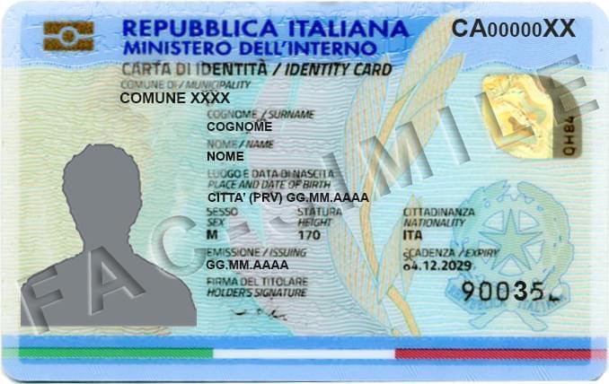 イタリア 身分証明書