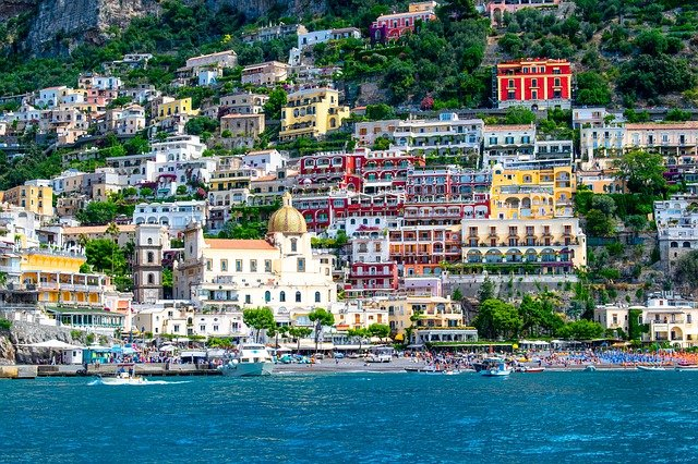 ローマから2泊3日でカプリ島・ソレント・ポジーターノ・ナポリを回る欲張りの旅!ポジターノ の風景